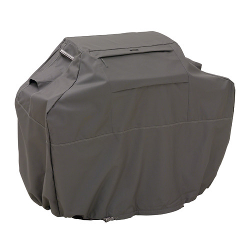 Classic Accessories Ravenna Barbecue BBQ Grill Patio Storage Cover, XXL,  Dark Taupe