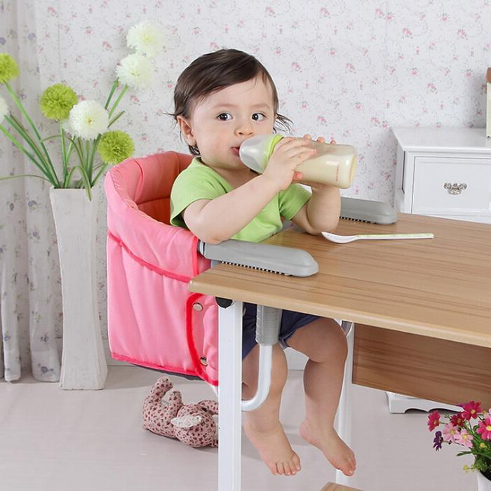 Portable Hook On Chair Clip-on High Chair Seat For  Baby Feeding