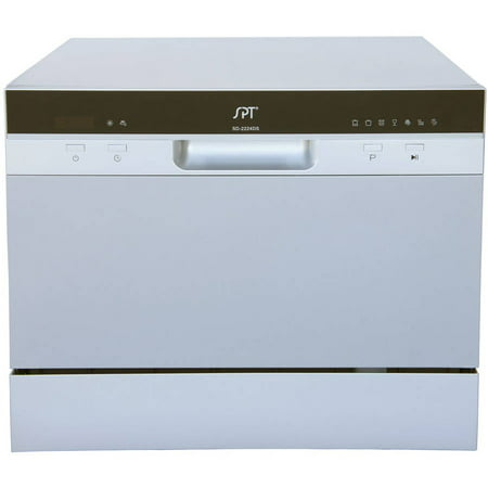 Sunpentown Delay Start Countertop Dishwasher, 2220 Series, Silver