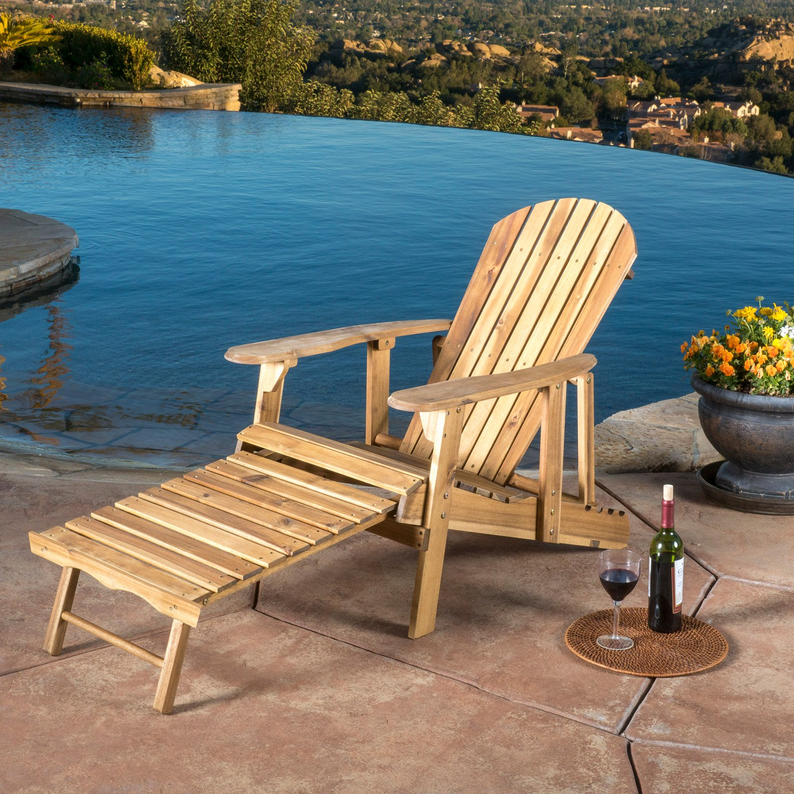 Hayle Reclining Adirondack Chair with Footrest Set of 2 by Best Selling Home Decor Furniture LLC