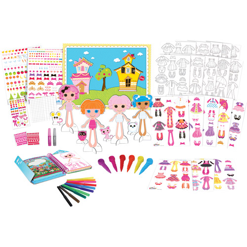Lalaloopsy Paper Doll Exclusive Fashion Super Set with over 40 Accessories