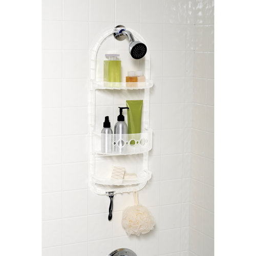 Mainstays Overthe Shower Caddy - Clear Frosted
