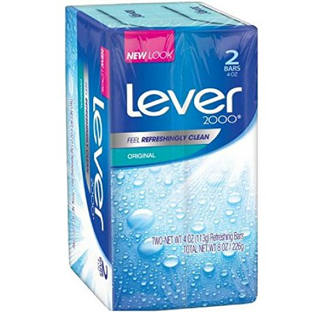 2000 Soap (Lever 2000 Bar Soap, Original, 4 oz, 2 Bar)
