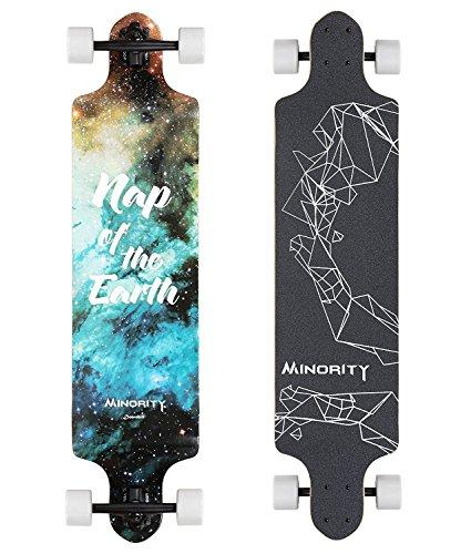 MINORITY Downhill Maple Longboard 40-inch Drop Deck (Leo) by