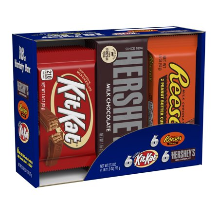 Hershey's, Full Size Candy Bars Variety Pack, 18 Ct. Retro Kit Kat
