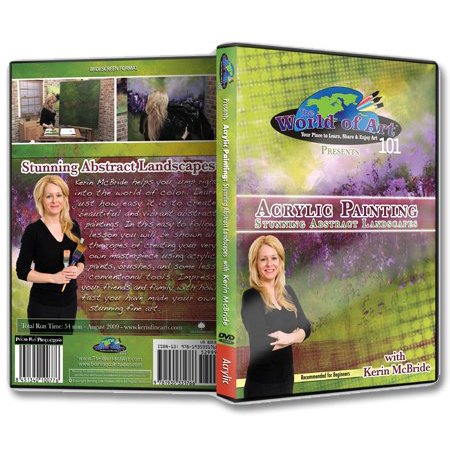 Acrylic Painting Dvd - Kerin McBride - Video Art Lessons