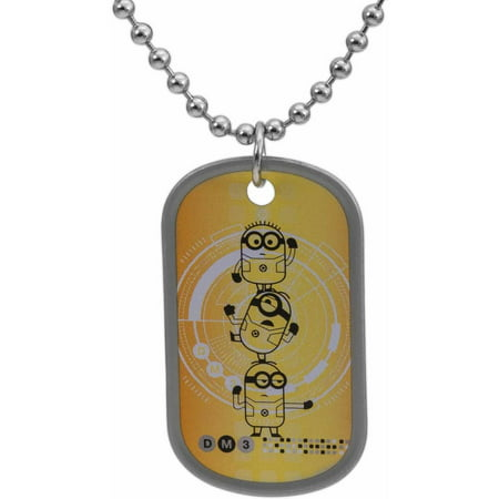 Stainless Steel Minions Dog Tag, 20