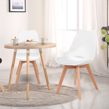 Gymax Set Of 4 Mid Century Dining Chairs Modern Dsw