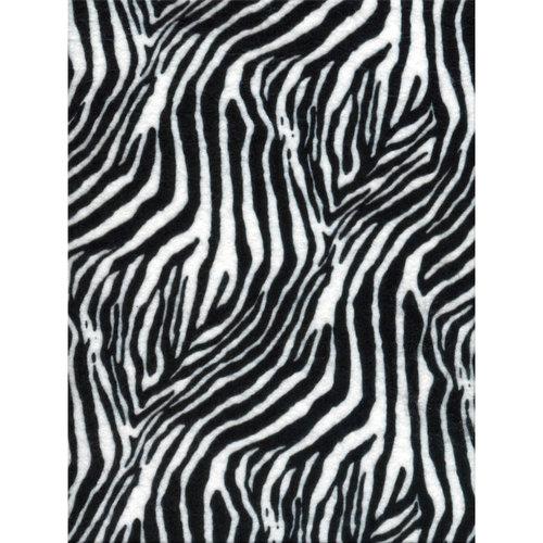 Printz Felt 9 Inch X 12 Inch-Zebra Zowl