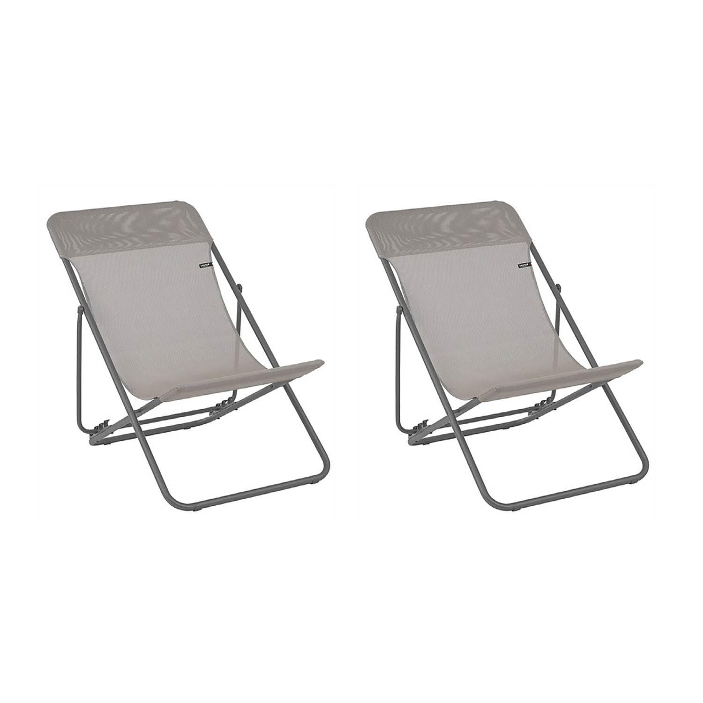 Lafuma Maxi Transat Folding Sling Outdoor Backyard Patio Chair Set Terre Walmart Com Walmart Com