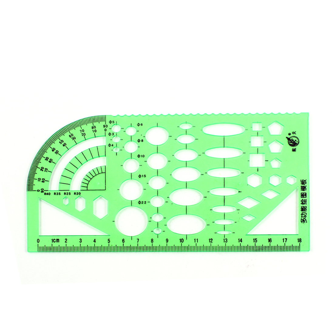 Stationery Drafting Drawing Multi Purpose Mapping Formwork Template Ruler Green
