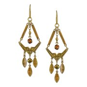 1928 Jewelry Mixed Metal Chandelier Earrings With Swarovski Crystals