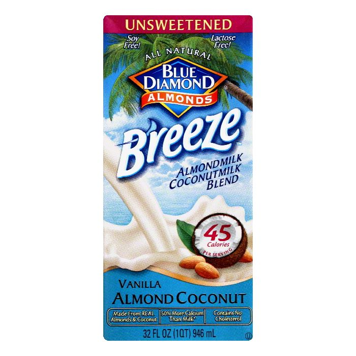 Blue Diamond Unsweetened Vanilla Almond Coconut Almondmilk Coconut Milk Blend, 32 Oz (Pack... by