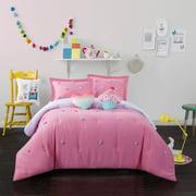 Heritage Club Kids Pom Pom Comforter Set with BONUS Decorative Pillows