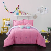 Heritage Club Kids Pom Pom Comforter Set with BONUS Decorative Pillows