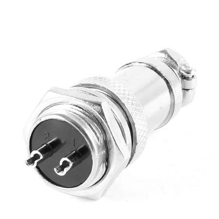 Unique Bargains  220V 20A GX16 16mm Screw 2 Pin Metal Aviation Connector (20a Connectors)