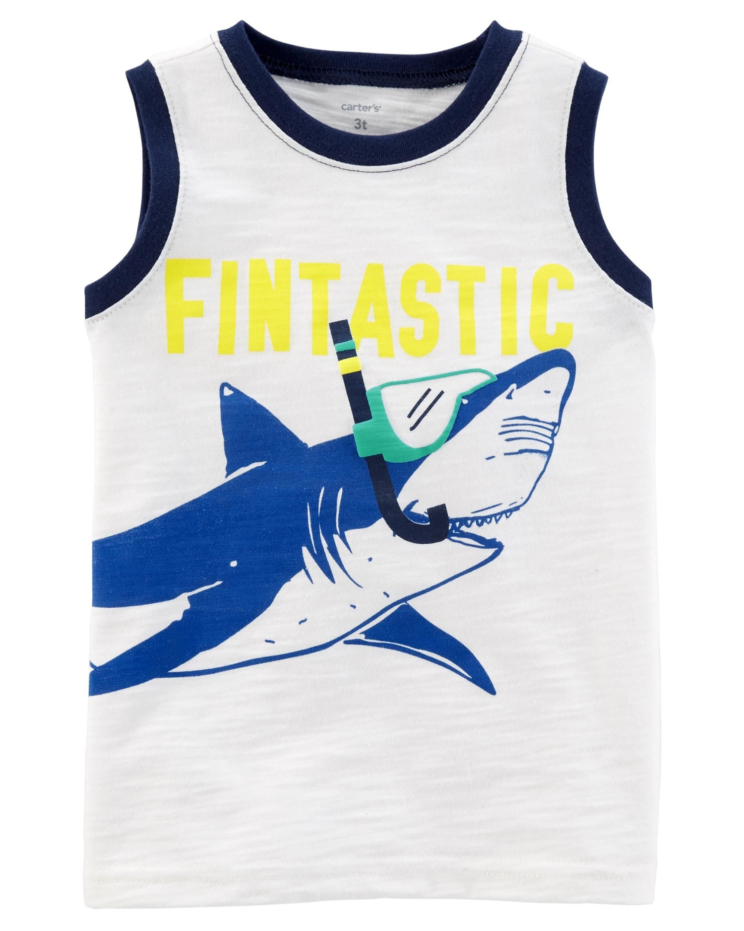 Carter's Little Boys' Shark Slub Jersey Tank