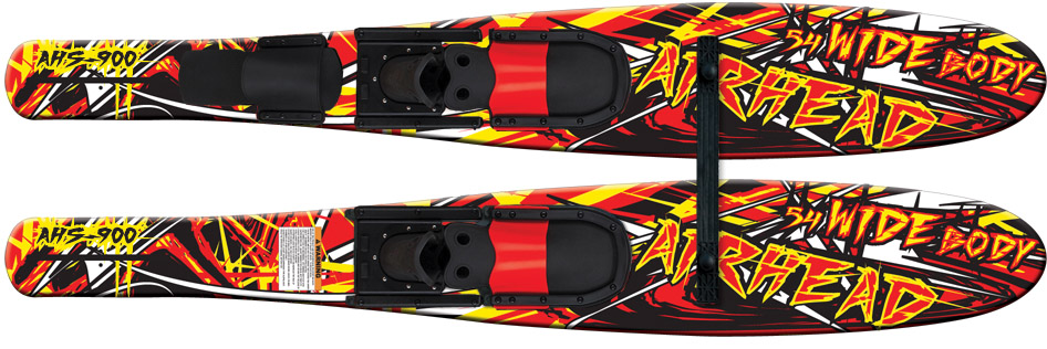 WIDE BODY Combo Skis, 53\ by AIRHEAD SPORTS GROUP