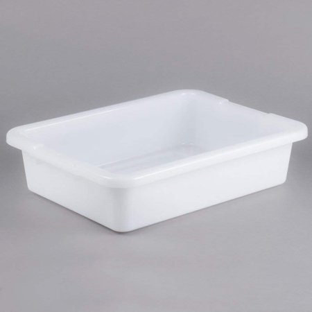 """TableTop King 3349-92 20"""" x 15"""" x 5"""" White Plastic Bus Box (FG334992WHT)"""