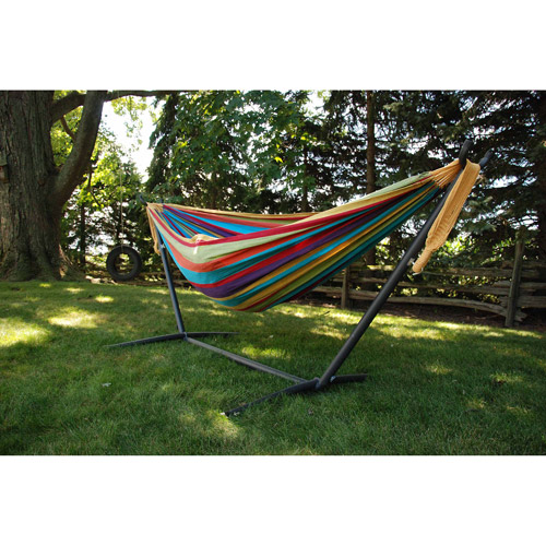 Vivere Double Hammock with Stand Combo