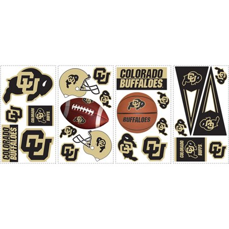 RoomMates University of Colorado Peel and Stick Wall Decals