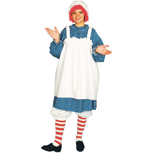Rag Doll Small Adult Woman Raggedy Ann 5 pc Costume