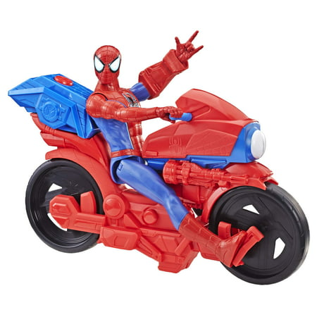 Spider-Man Figure with Power FX Cycle Plays Sounds and