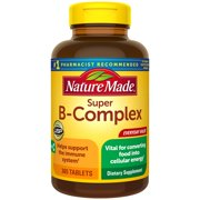 Nature Made Super B-Complex Tablets with Vitamin C and Folic Acid, 365 Count for Metabolic Health