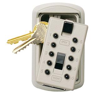 Kidde Keysafe 2-Key Box with Pushbutton Lock, Clay