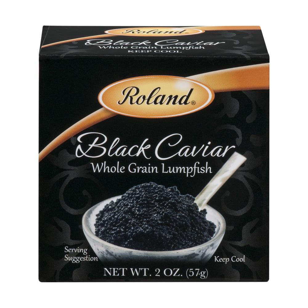 Roland Whole Grain Lumpfish Black Caviar, 2.0 OZ