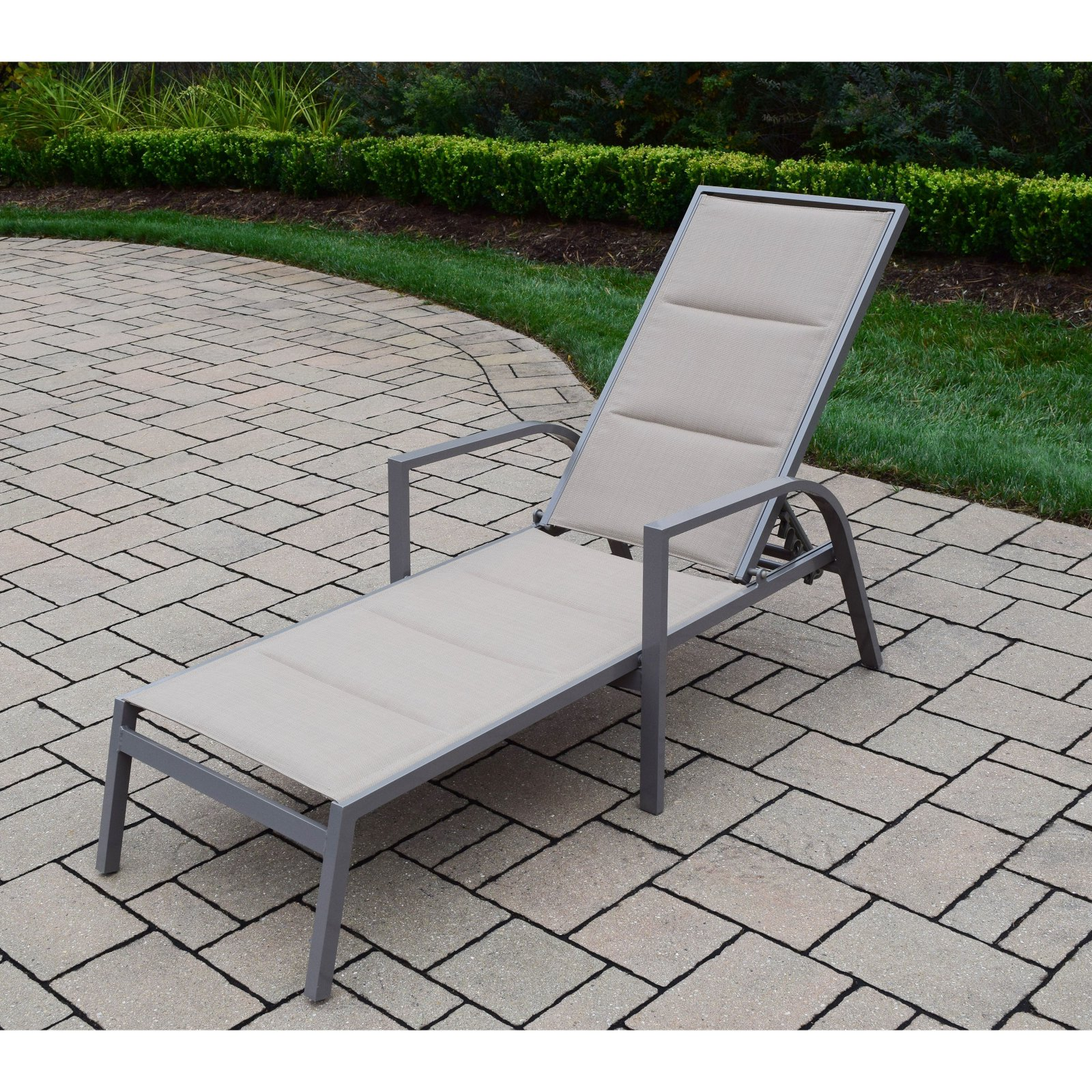 Oakland Living Padded Sling Aluminum Patio Chaise Lounge