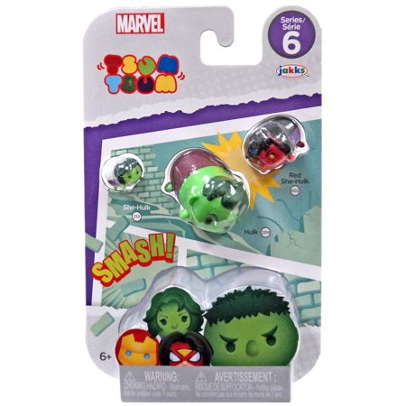Marvel Tsum Tsum Series 6 She-Hulk, Hulk & Red She-Hulk Minifigure - Shv Series