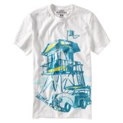 Aeropostale Mens Watercolor Graphic T-Shirt