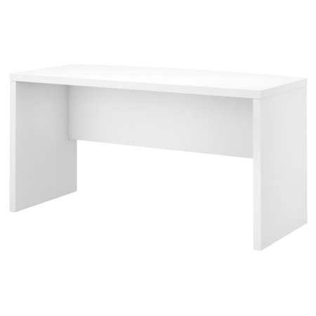 """BBF Echo by Kathy Ireland 60"""" Bow Front Desk in Pure White"""