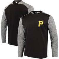 Pittsburgh Pirates Majestic Authentic Collection On-Field Tech Fleece Pullover Sweatshirt - Black