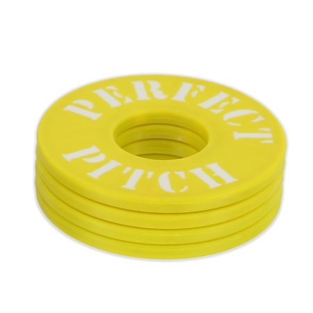 Perfect Pitch Washers, 4 pack, Yellow