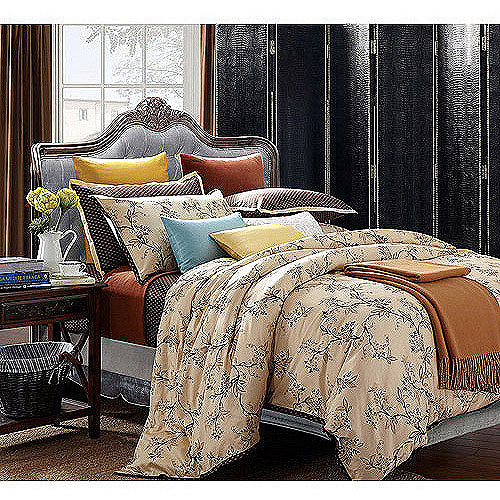 EverRouge Asian Garden 7-Piece Bedding Duvet Set