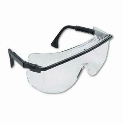 Uvex Astro OTG 3001 Wraparound Safety Glasses, Black Frame/Clear Lens Astro Otg 3001 Safety Glasses