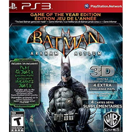 3 Year Hardware - Refurbished Batman: Arkham Asylum Game Of The Year Edition For PlayStation 3 PS3