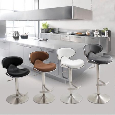 Matrix Ecco Brushed Stainless Steel Adjule Height Swivel Bar Stool