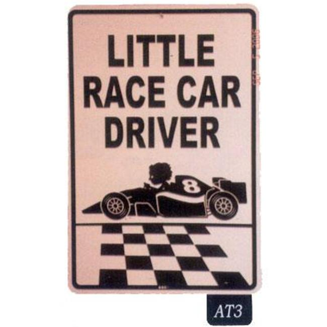Seaweed Surf Co AT3 12X18 Aluminum Sign Little Race Car Driver