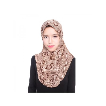 Lavaport Muslim Islamic Women Solid Color/Flower Printed Hijab