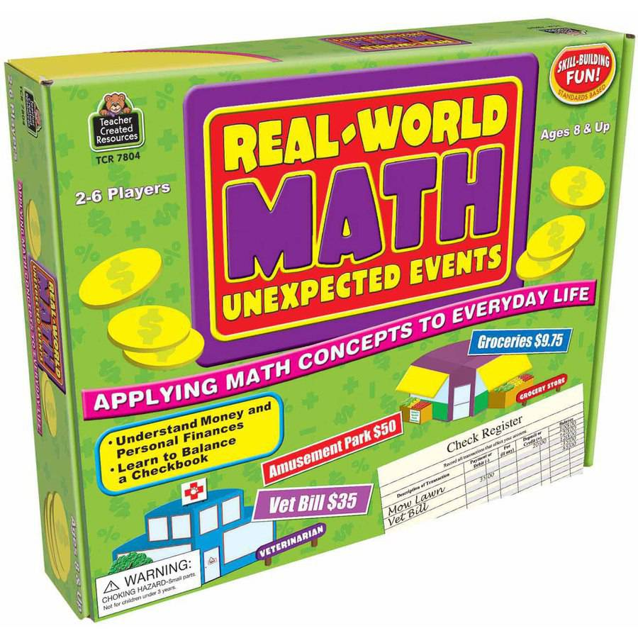 Teacher Created Resources Real World Math Game, 2 to 6 Player