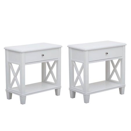 Set of 2 White Nightstands - image 2 of 2