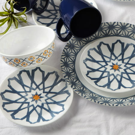 Corelle Signature Amalfi Azul 16-pc Dinnerware Set