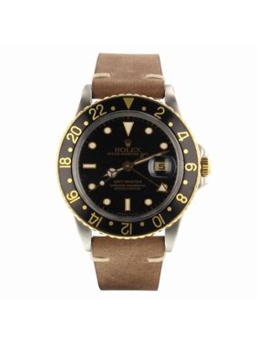 Pre-Owned Rolex Gmt Master 16753 Steel  Watch (Certified Authentic & Warranty)