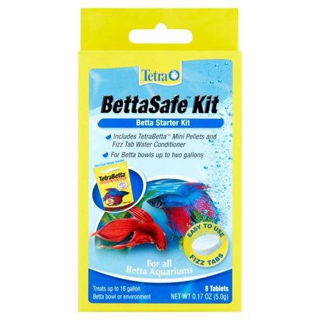 Tetra BettaSafe All in One Starter Kit for Bettas, 8-Count