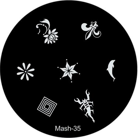 Mash Nail Art Stamp Stamping Image Plate No 35