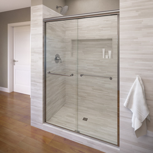 Basco Infinity 44'' x 70'' Bypass Semi-Frameless Shower Door