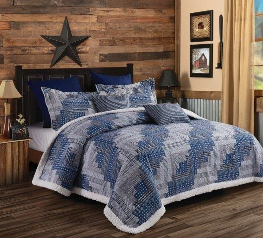 Phyllis Dobbs Montana Cabin Primtiive WesternQuilt and Sham Set - Queen / Full Size